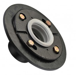 "Toolway 188050 Round Shower Drain Base Cast Iron (6-5/8"")"