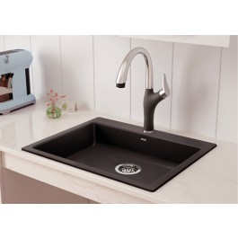"Blanco Single Kitchen Sink Precis Collection Cinder 25-3/4""x20-1/2"" (BLA402074)"