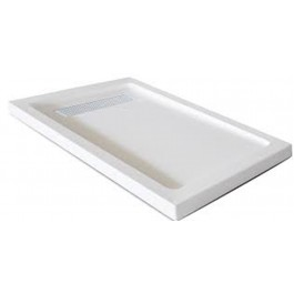 "Jade 7132-60-80 White Acrylic Base With Tile Flange And Linear Drain (32""x60"")"