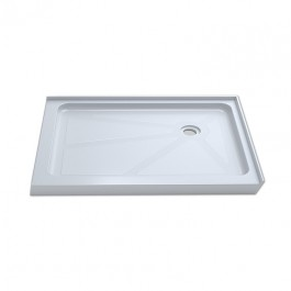 """Jade 7237-48-70 White Acrylic Base With Tile Flange And Right Drain (36""""x48"""")"""