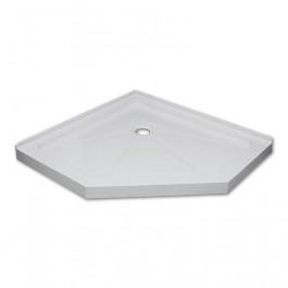 "Jade 7434-36-70 White Acrylic Neo Angle Base With Tile Flange (36""x36"")"