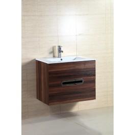 """Bathroom Vanity & Sink, Black Walnut 24"""""""