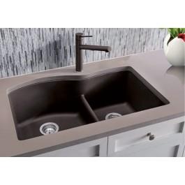 Blanco Double Kitchen Sink Café Diamond U 1 3 4 Collection Granite Composite In Silgranit