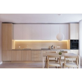 Transitional Style Kitchen In Laminate With Flat Door (Promo #3)