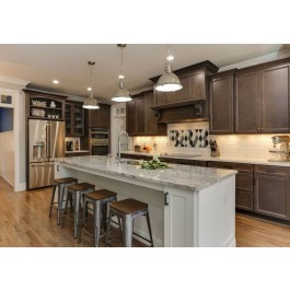 Contemporary Style Kitchen In Laminate With MDF & Maple Solid Wood Shaker Door (Promo #9)