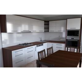 Modern Style Kitchen In Laminate With Flat & Matt Finish Door (Promo #2)