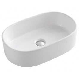 "White Porcelain Art Basin (21.85""x17""x5.9"")"