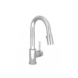 Baril Pro CUI-2040-00L-CC UNICKPRO Kitchen Sink Faucet With Pull-Down Spray 1-handle Less Plate Chrome