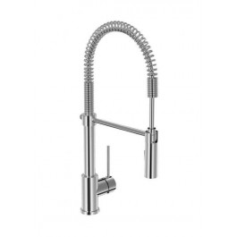 Baril Pro CUI-9181-72L-CC TECHPRO Kitchen Sink Faucet With Pull-Down Spray 1-handle Less Plate Chrome