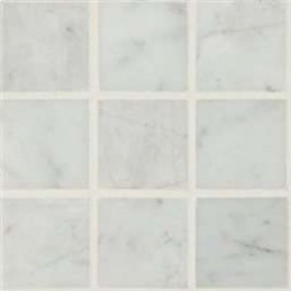 Interlocking Ceramic,Carrara White 2x2 Polished(SMOT-CAR-2X2P)