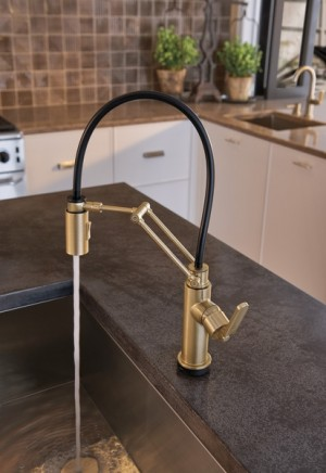Brizo Kitchen Faucet Litze Collection Luxe Gold (64244LF-GL)