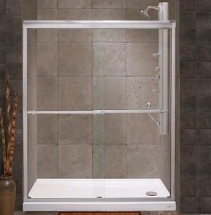 "Tomlin - FLORA - 2042E Shower Door 51-1/2""-53-1/2"""