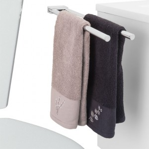 LALOO-2609 Double Bar Swing Towel Holder