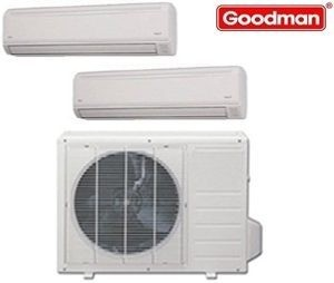 Goodman Ductless Mini Split Multi-Zone Heat Pump 36000 Btu (2x 18000 Btu) Seer 21 (MST363E21MCAA-(2)MSH183E21AXAA)