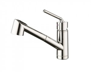 Single Handle Pull-Out Kitchen Faucet Brushed