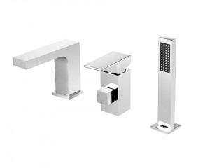 Single Lever Bathtub Faucet With Hand Shower Chrome