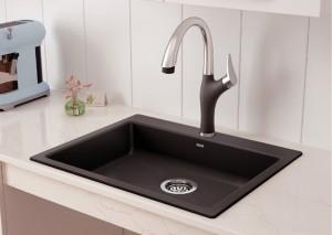 "Blanco Single Kitchen Sink Precis Collection Cinder 25-3/4""x20-1/2"" (BLA402074)"