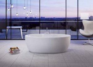 "Tomlin - TOMWAVE-BAT ACRYLIC Freestanding bathtub 67-1/4"""