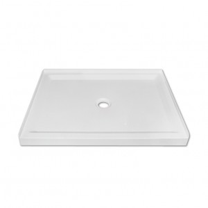 "Jade 7132-40-70 White Acrylic Base With Tile Flange And Central Drain (32""x40"")"