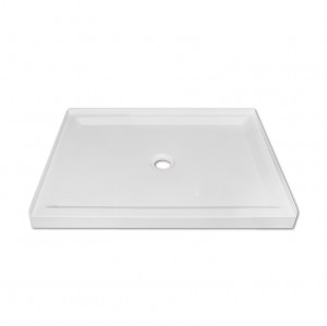 "Jade 7136-36-70 White Acrylic Base With Tile Flange And Central Drain (36""x36"")"
