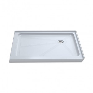 "Jade 7237-48-70 White Acrylic Base With Tile Flange And Right Drain (36""x48"")"