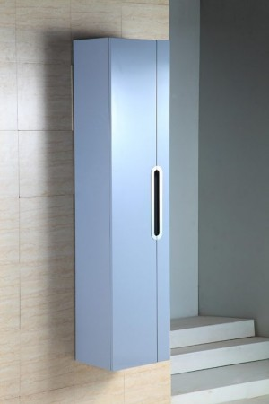 Bathroom Vanity Cabinet,  Glossy Grey  13-3/4""