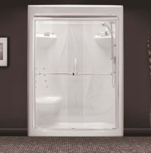 "Tomlin - WINSTON - 9640 Shower Door 51-1/2"" - 53-1/2"""