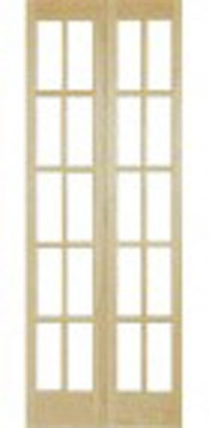 "Interior 812 Clear Glass Door In Folding Pine Jointed (30""x80"")"
