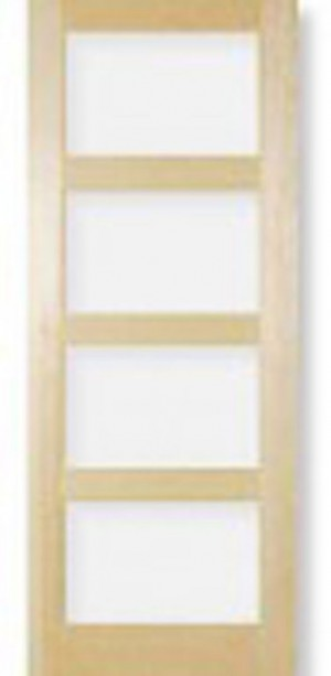 "Interior 904 Clear Glass Door In Pine Jointed (30""x80"")"
