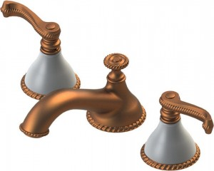 Rubinet Vanity Faucet Etruscan Collection Copper Matte White (1AETLACMMW)