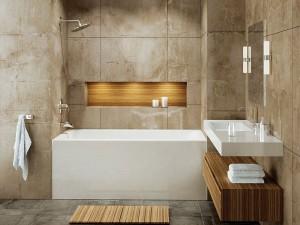 "Mirolin BO62L/R Adora Skirted Baths - Soaker 60"" White"