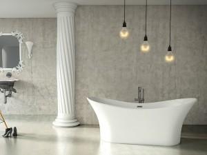 "Mirolin FSW105 Andrina Free Standing Bath - Soaker 69"" White"