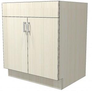 """Melamine Kitchen Sink Base Cabinet 2 Doors  24"""" x 34.5"""" Taf-L492"""