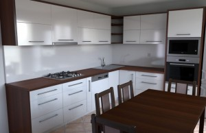 Modern Style Kitchen In Laminate With Flat & Matt Finish Door (Promo #2)