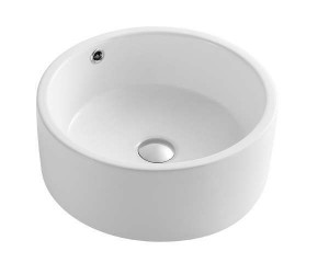 "White Porcelain Art Basin (16.54""x16.54""x6.89"")"