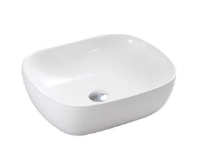 "White Porcelain Art Basin (20.28""x16.73""x6.51"")"