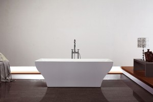 "Jade Freestanding Acrylic Bathtub Da Vinci Collection 70"""