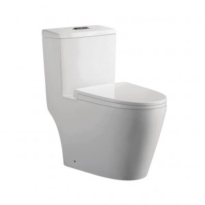 Jade TS-137 Danielle Collection 1-Piece 0.8/1.2 GPF Dual Flush Elongated Toilet in White