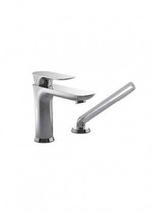 Baril Pro O45-1269-00-CC 2-Pieces Roman Bathtub Faucet With Hand Shower Chrome