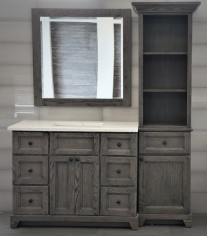 "Rock Solid Bathroom Vanity with Granite or Quartz Top and Undermount Sink (42"")"