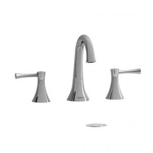 """Riobel ED08L Edge Collection Double Hole 8"""" Lavatory Faucet Chrome"""