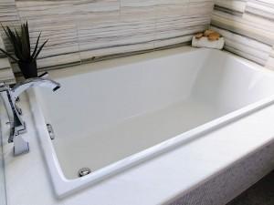 "Mirolin BO68S Fina Drop-In Bath - Soaker 60"" White"