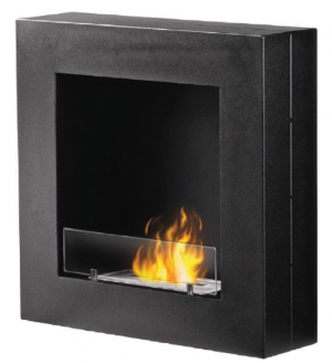 FP-111W Wall Mounted Ethanol Fireplace with 1 x 1.3L Double-layer 304SS Burner and the extinguish tool