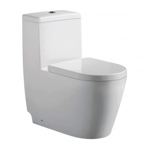 Jade TS-132 Giselle Collection 1-Piece 0.88/1.28 GPF Dual Top-Mount Flush Elongated Comfort Height Toilet