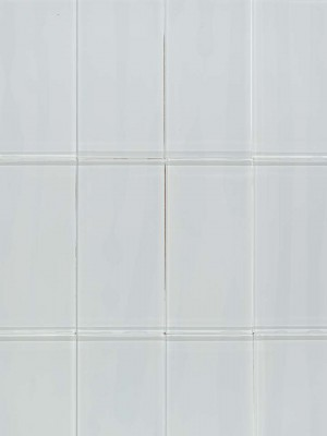 "Glass Tiles for Wall, Super White (3""x6"")"