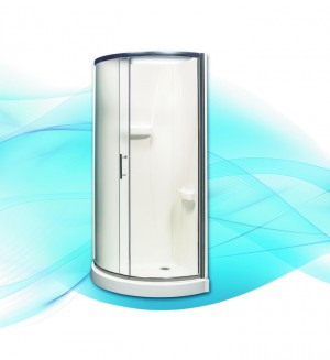 "Acrylic Shower Himalia 34"" x 34"" (Base Included)"