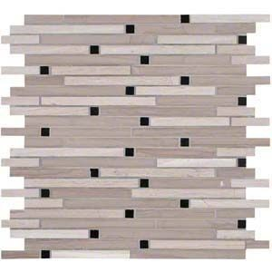 Interlocking Ceramic,White Oak Blend Honed 10 MM(SMOT-STIL-WOB10MM)