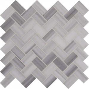 Interlocking Ceramic,Bergamo Herringbone Polished Mosaic(SMOT-BERGAMO-HB10MM)