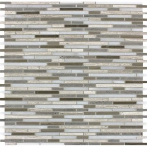 Interlocking Ceramic,Arctic Storm Bamboo Pattern Mosaic(SMOT-AS-BMP10MM)