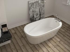 "Mirolin CF2010 Inspire Free Standing Bath - Soaker 60"" White"